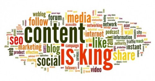 Content is king conept in word tag cloud